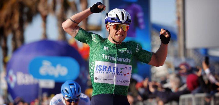 Brent Van Moer geklopt door Mads Würtz Schmidt in zesde rit Tirreno-Adriatico
