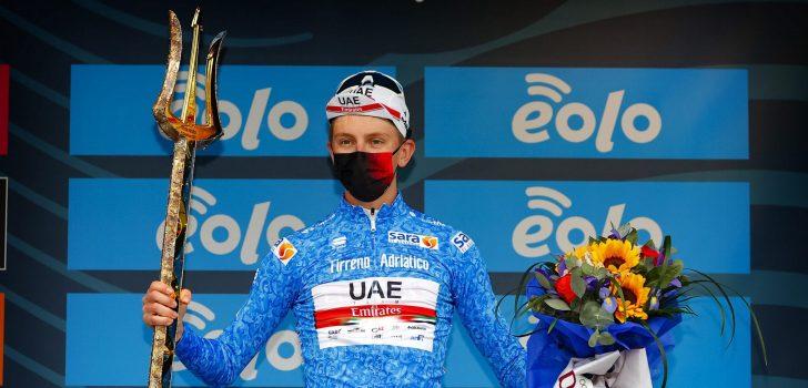 """Tadej Pogacar winnaar Tirreno-Adriatico: """"Geweldige start van het seizoen"""""""