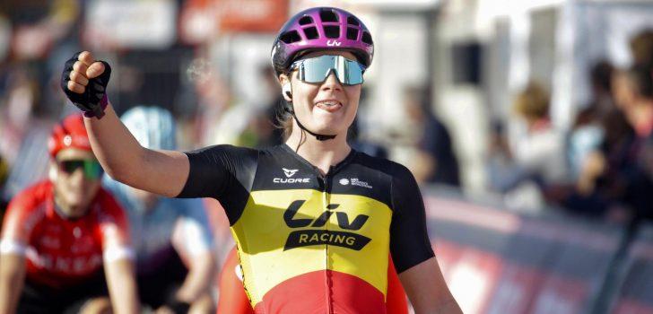 Lotte Kopecky tankt vertrouwen met winst in Trophée des Grimpeuses