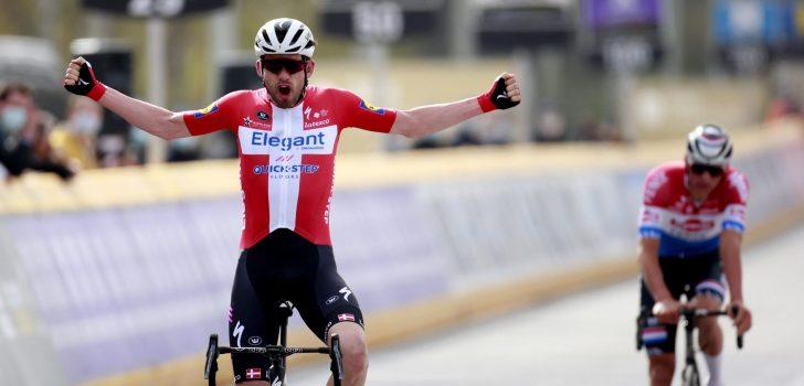 Kasper Asgreen klopt Mathieu van der Poel in de Ronde van Vlaanderen