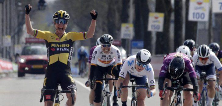 Ruim 700.000 kijkers zien Van Aert de Amstel Gold Race winnen