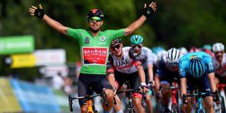 Colbrelli wint oplopende massasprint in Dauphiné, Pöstlberger blijft leider