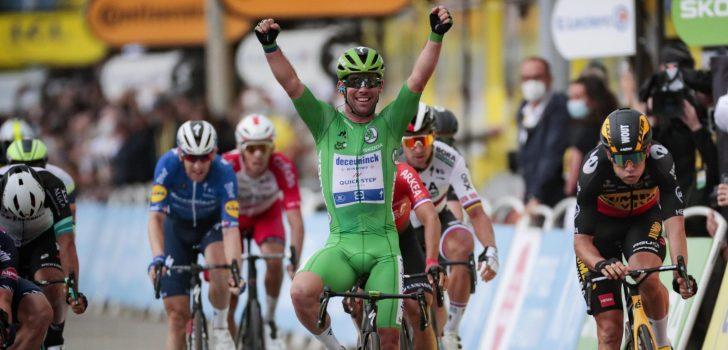 Tour 2021: Mark Cavendish verslaat Wout van Aert en Jasper Philipsen in Valence