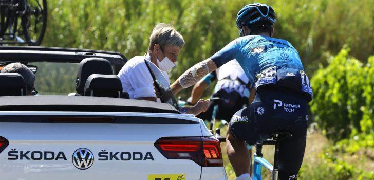 Tour 2021: Ribbreuk Rodríguez, ook letsel voor Gruzdev, Bouhanni en Barguil