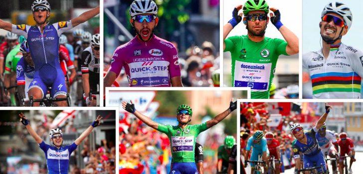 Uniek record Deceuninck-Quick-Step: 6 keer 5 ritzeges in laatste 15 grote rondes
