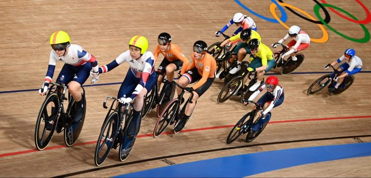 Olympische Spelen: Kopecky en D'hoore na valpartijen tiende in koppelkoers