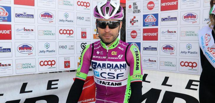 Giovanni Visconti (38) voegt er nog een jaar aan toe bij Bardiani-CSF-Faizanè