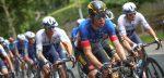 """Valpartij ontneemt Van Aert sprintkans: """"Ik kon nog net op tijd in de remmen knijpen"""""""