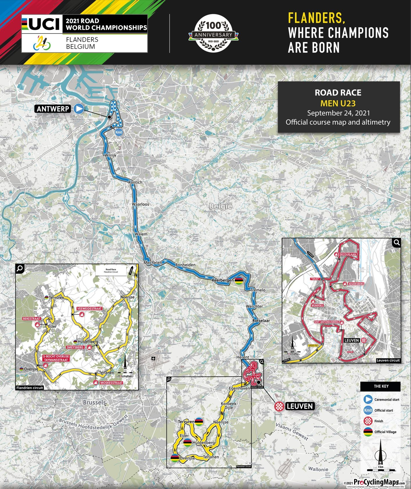 Preview Worlds U23 Road Race 2021