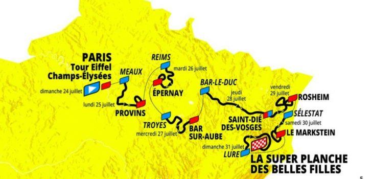 Dit is het parcours van Le Tour de France Femmes 2022