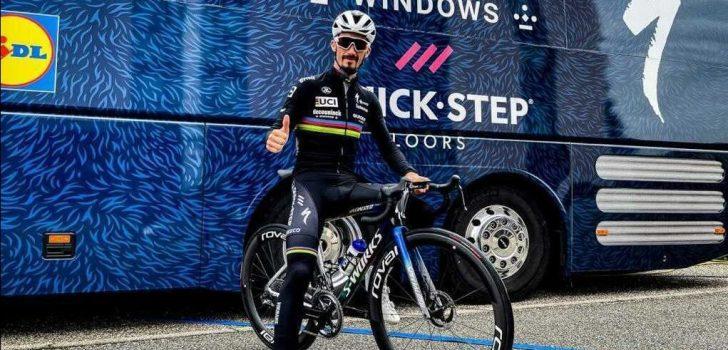 Een nieuwe fiets voor wereldkampioen Alaphilippe